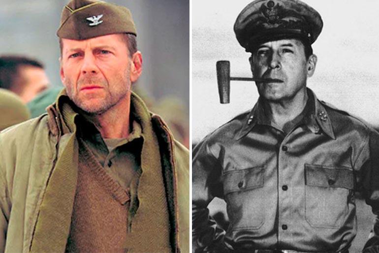 Bruce Willis et le général Macarthur