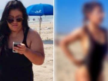 Christine Carlos à la plage