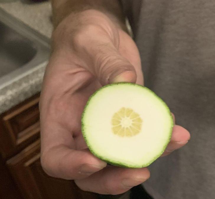 un citron vert non mûr