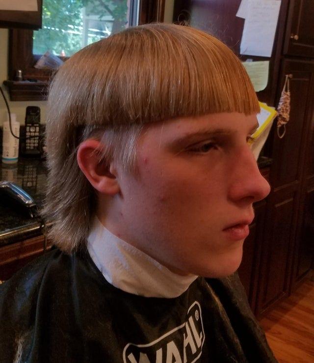une coupe de cheveux ratée