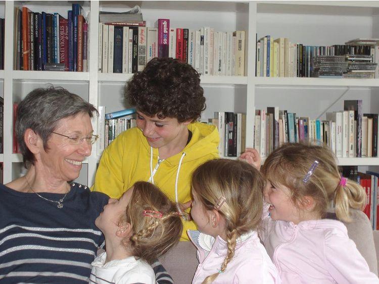 Denis Brogniart avec ses enfants