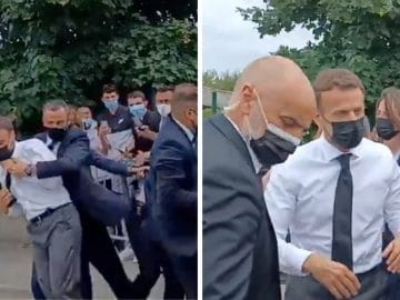 Emmanuel Macron reçoit une gifle