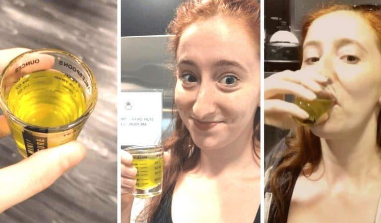 Elle boit du jus de cornichons pendant 7 jours et montre les effets sur son corps