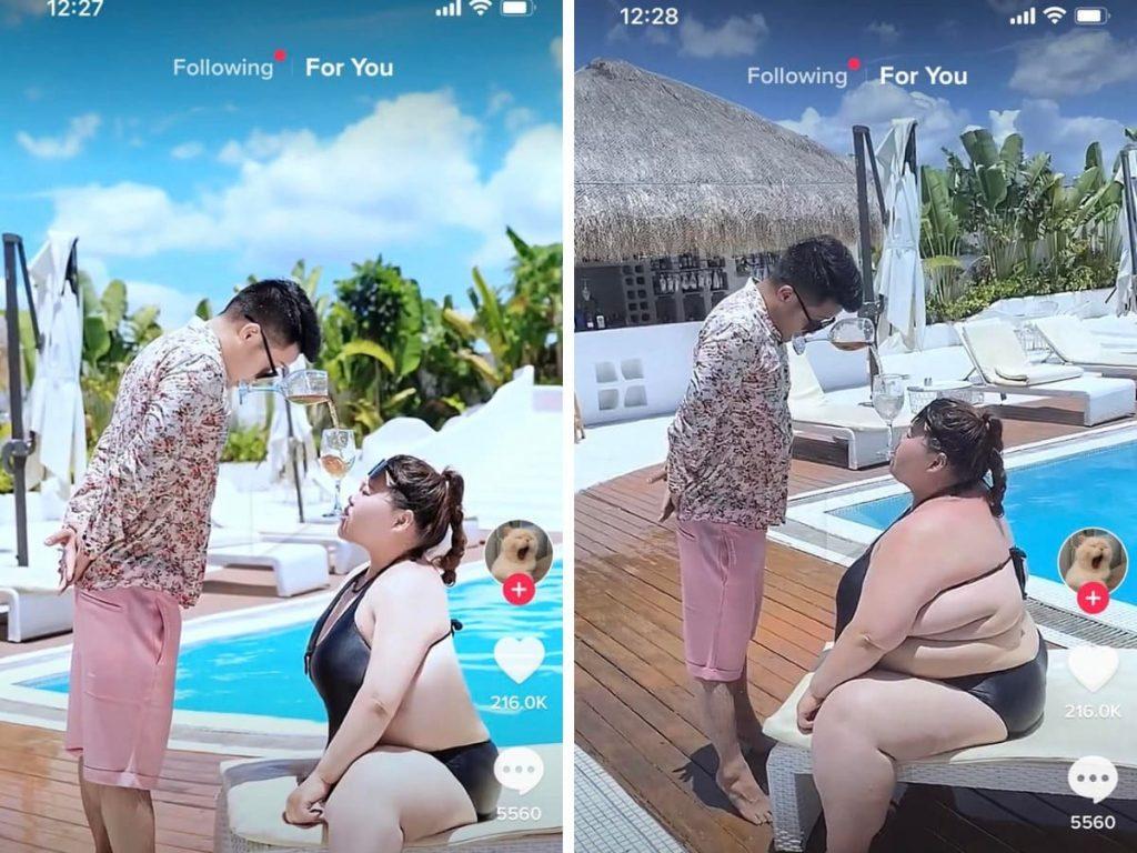 Un couple sur Instagram