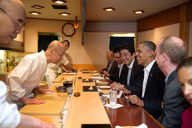 Barack Obama au Sukiyabashi Jiro
