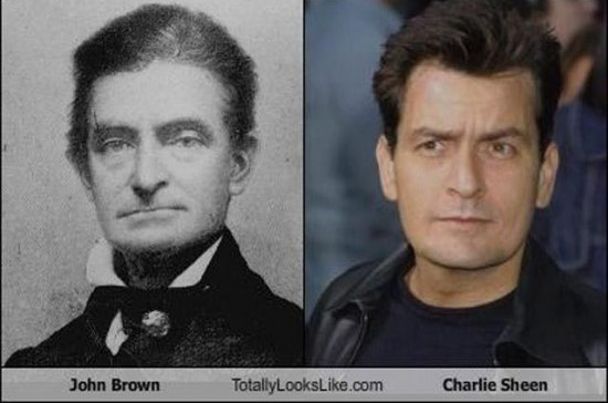 John Brown et Charlie Sheen