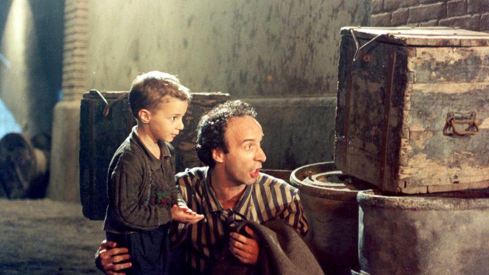 Guido et son fils Giosue dans La vie est belle