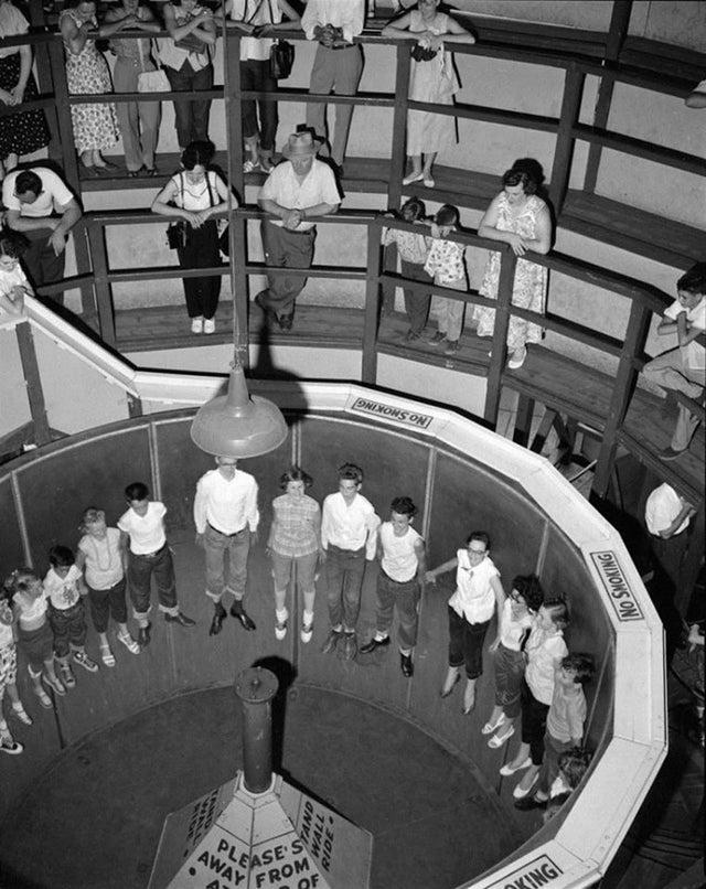 Le manège rotor au parc kennywod en 1955