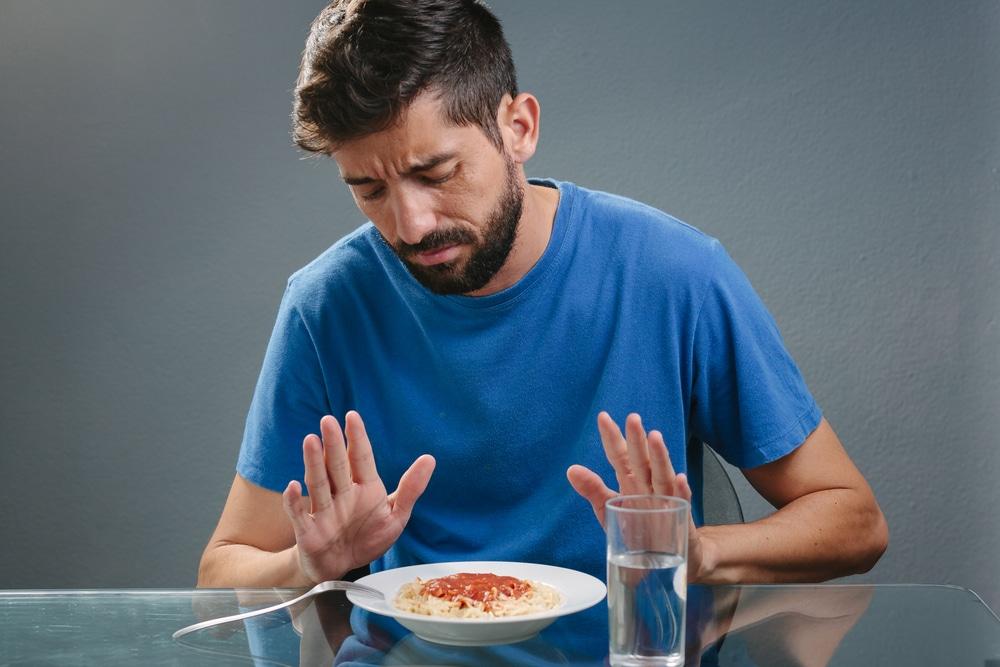 un homme qui n'a pas faim