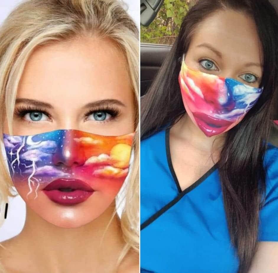un masque imprimé