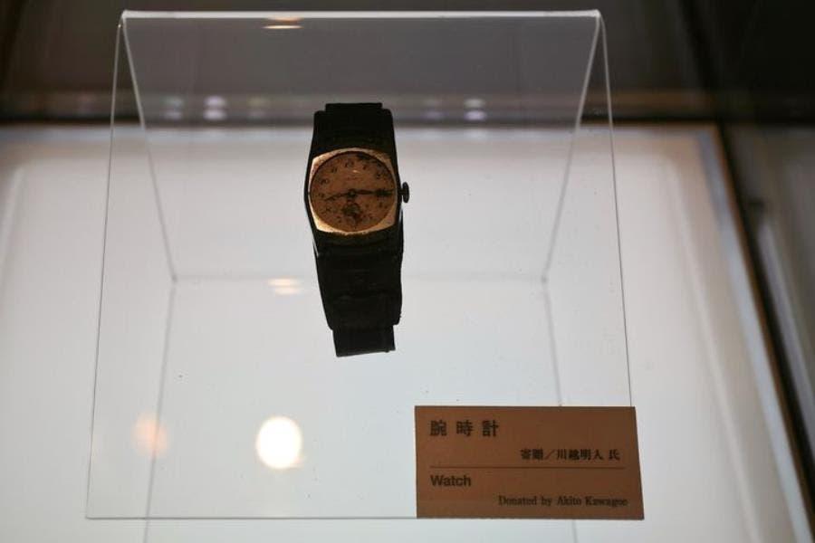 une montre arrêtée à Hiroshima