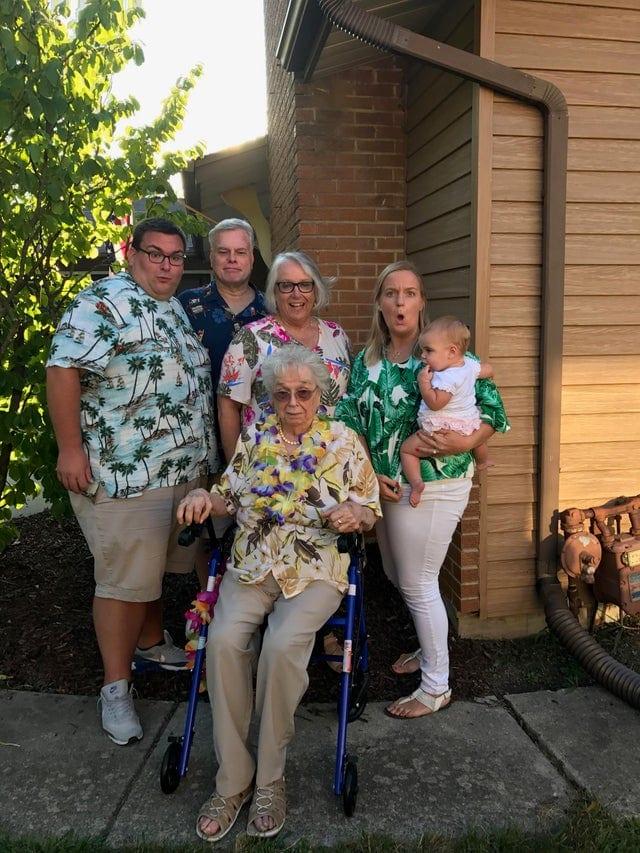 une drôle de photo de famille