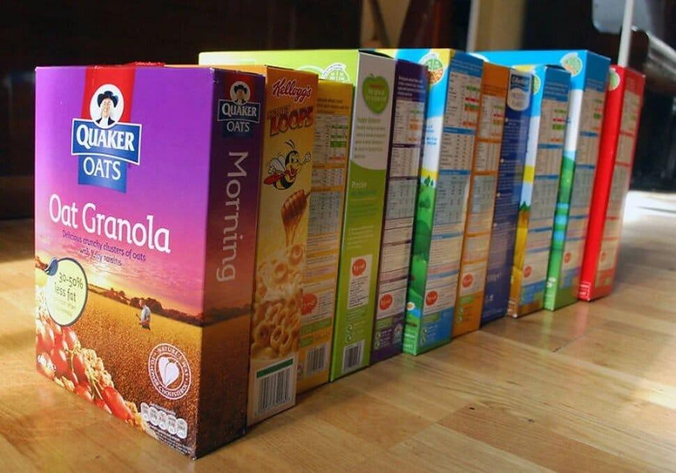 paquets de céréales