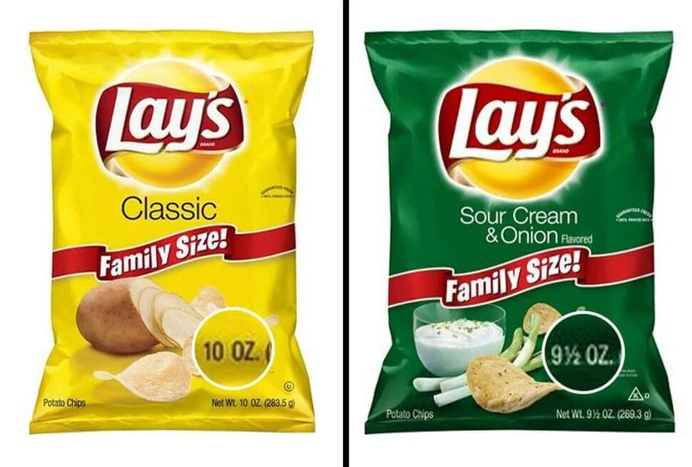 paquets de chips Lay's