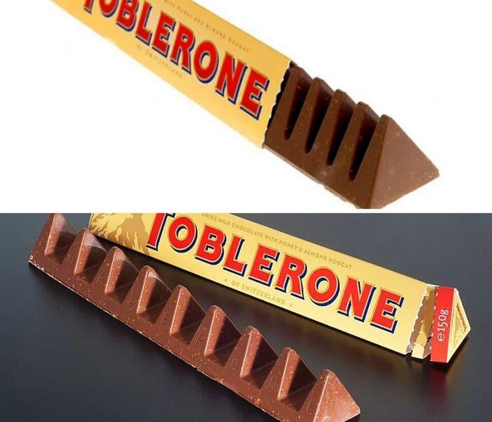 Barres de Toblerone