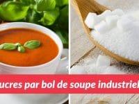 du sucre caché dans les soupes