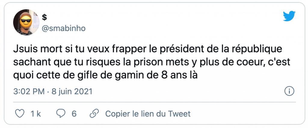tweet sur la gifle de Macron