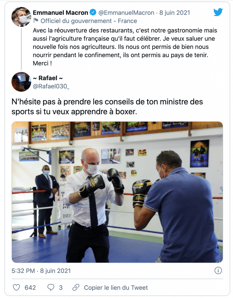 le président gifle tweet
