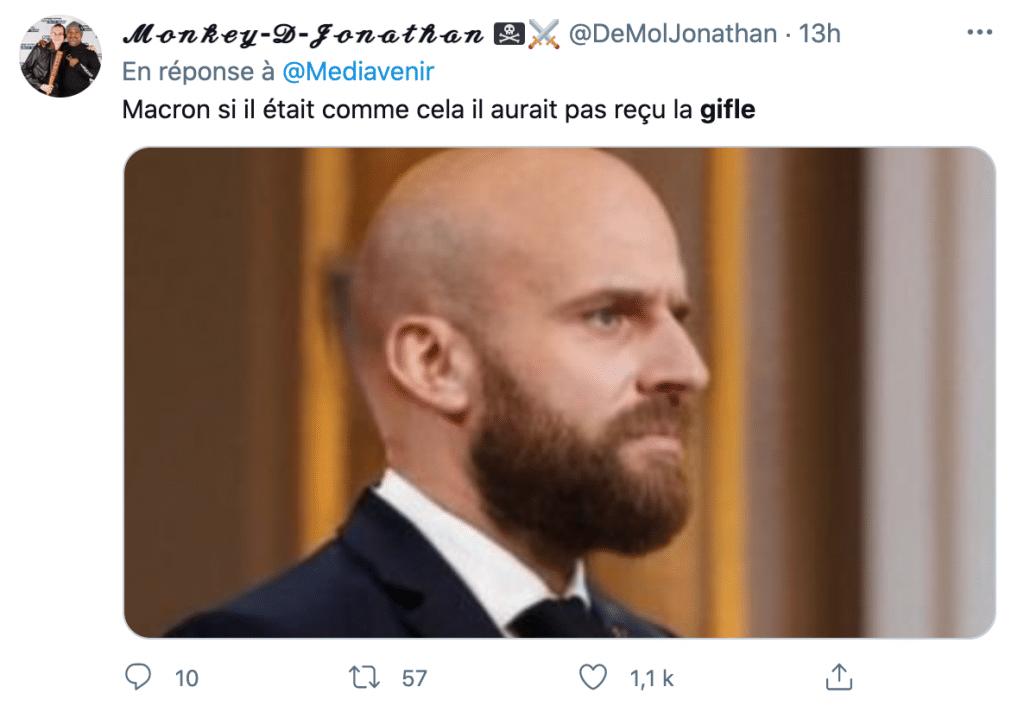 tweet sur la gifle du président
