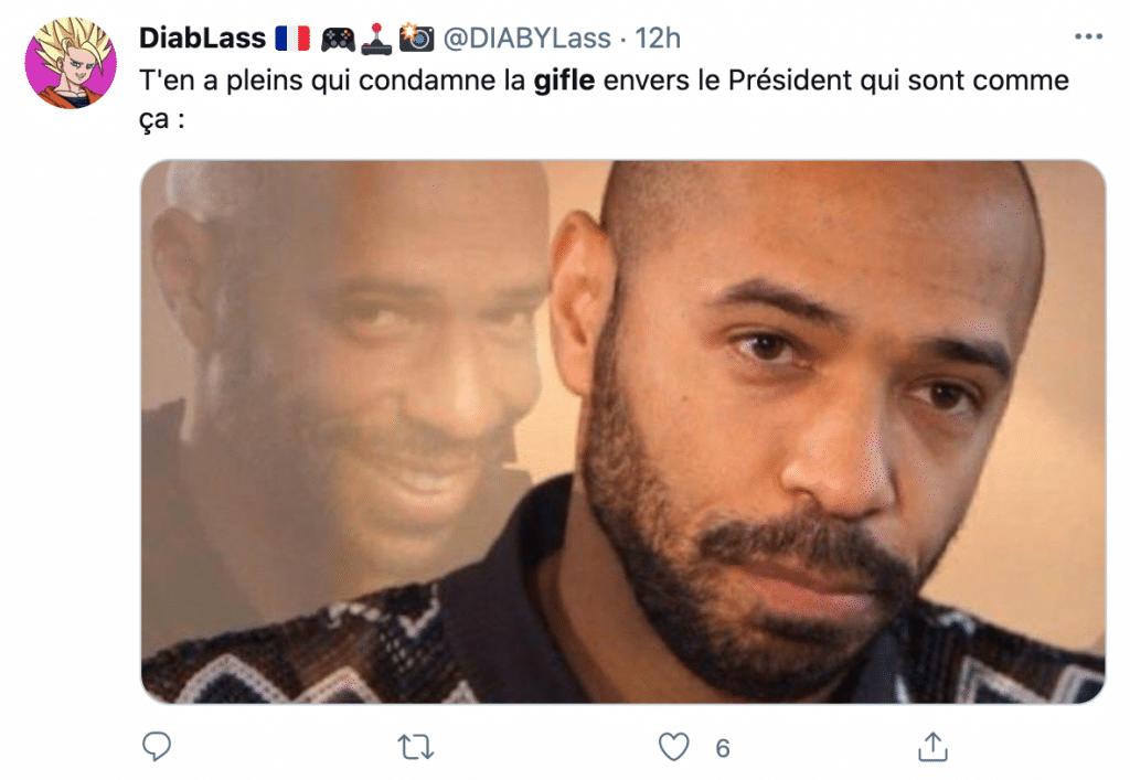 un tweet sur la gifle de Macron