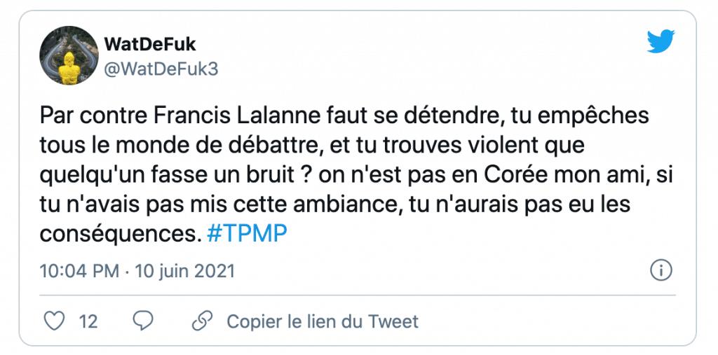 tweet sur le rire de Cyril Hanouna