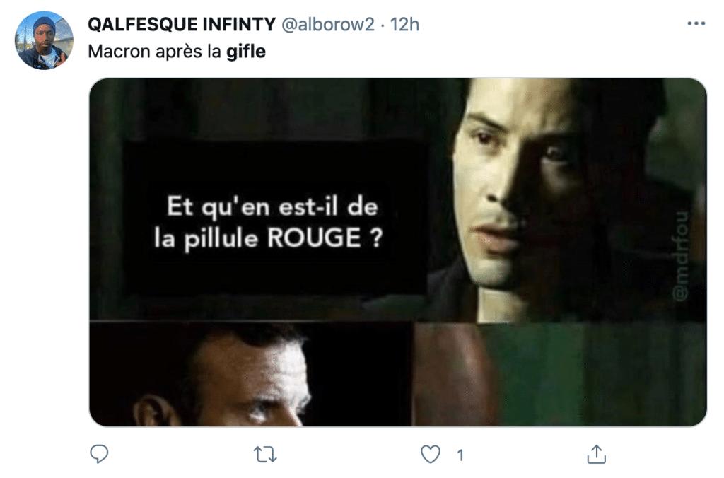 Macron gifle tweet de réaction