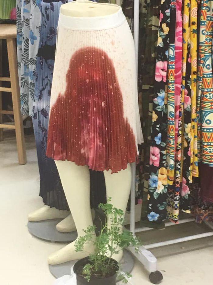 une jupe imprimée
