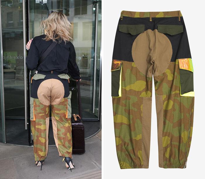 un pantalon imprimé militaire
