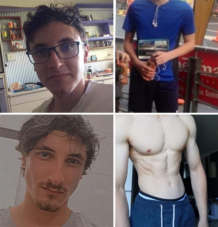 l'évolution physique d'un jeune homme