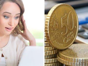 des pièces de 50 centimes