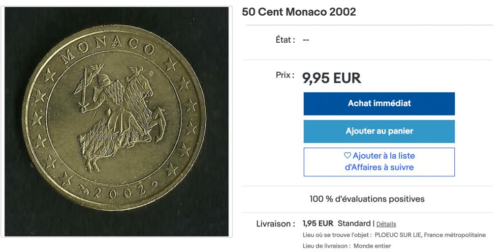 50 centimes d'euros de monaco