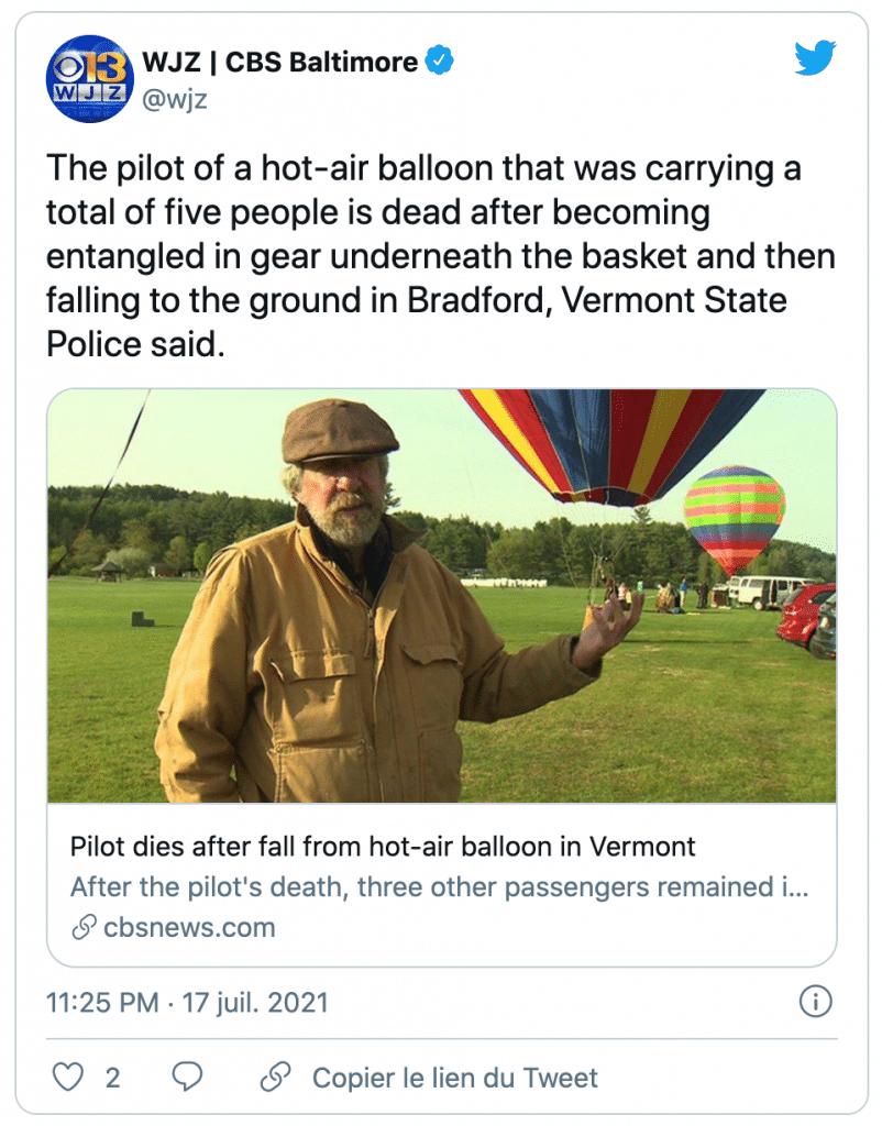 le pilote de la montgolfière