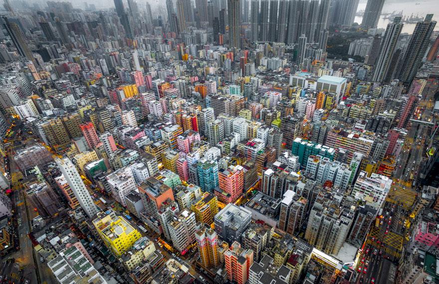 Les gratte-ciels de Hong Kong