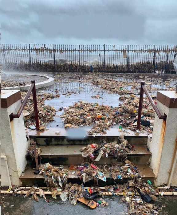 la mousson à Mumbai