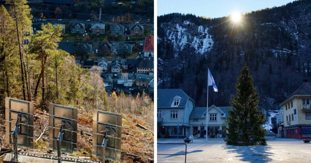 La ville de Rjukan en Norvège