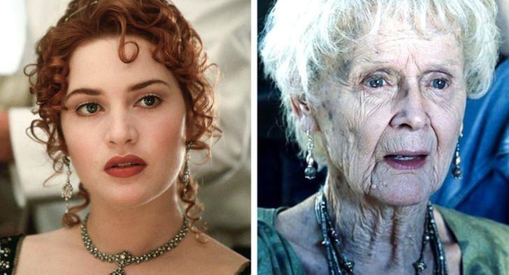 Gloria Stuart et Kate Winslet.
