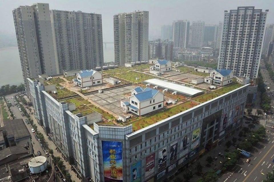 des maisons sur un centre commercial en chine