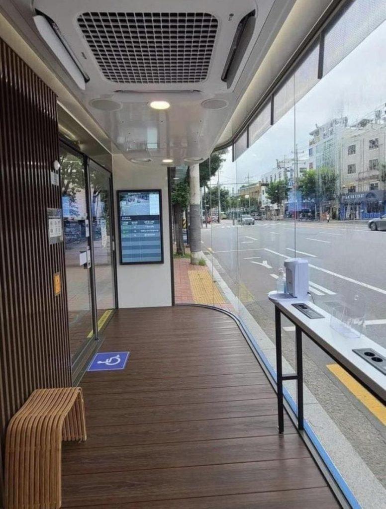 un arrêt de bus en corée du sud