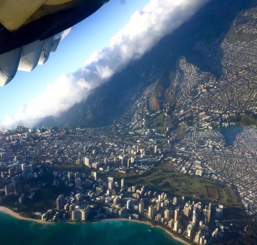 une photo prise en avion