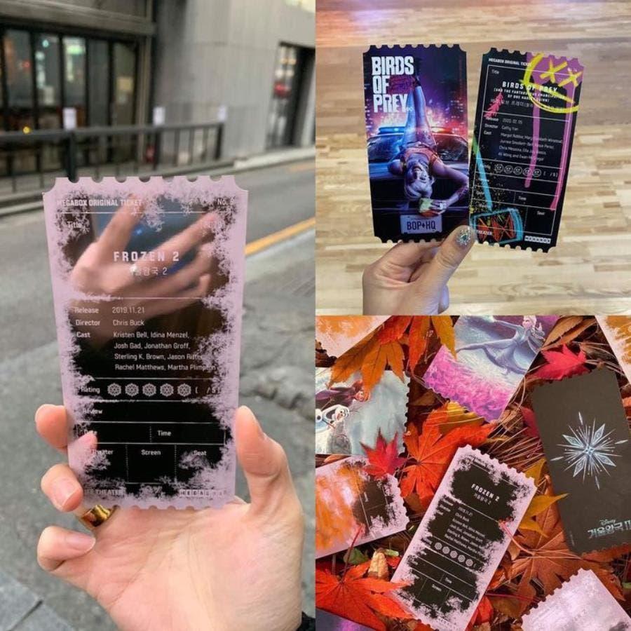des tickets de cinéma coréens