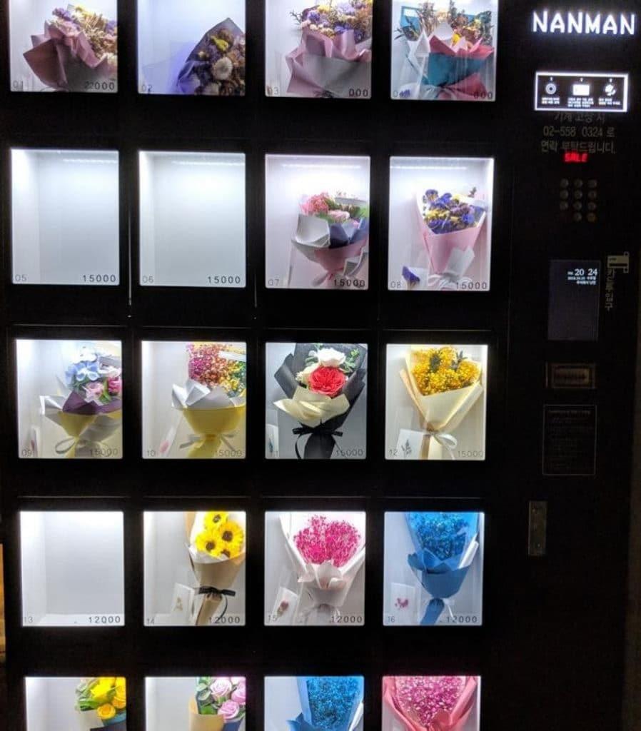 un distributeur de fleurs