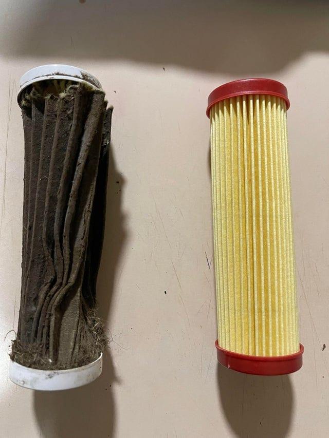 deux filtres pour tondeuse