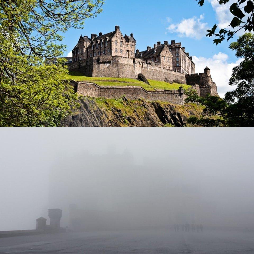 un château dans la brume