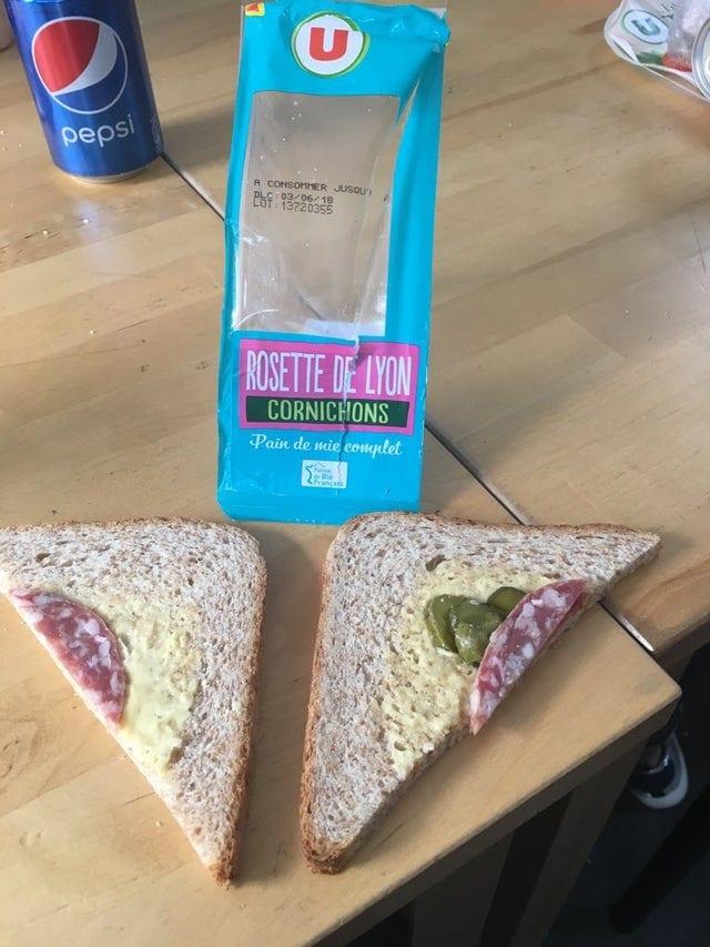 un sandwich triangulaire