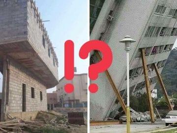 des immeubles dangereux