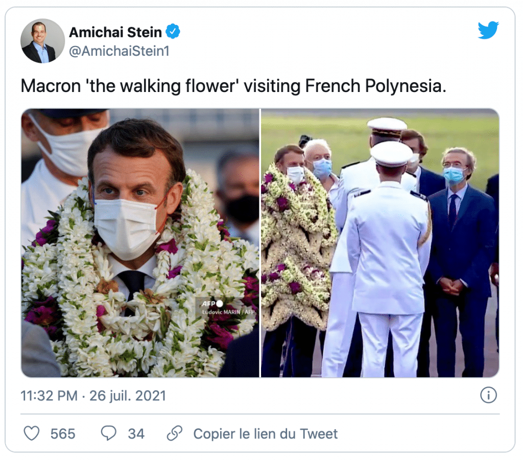 Président français en Polynésie française