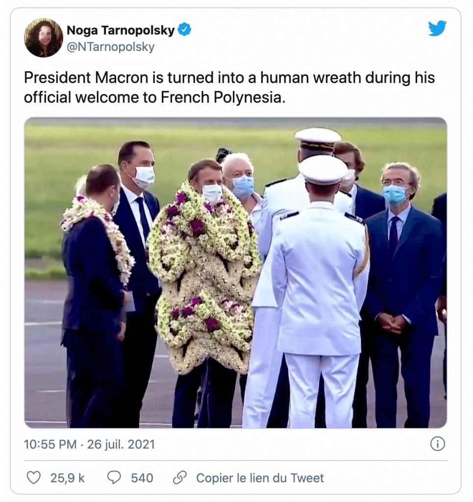 Emmanuel Macron en Polynésie