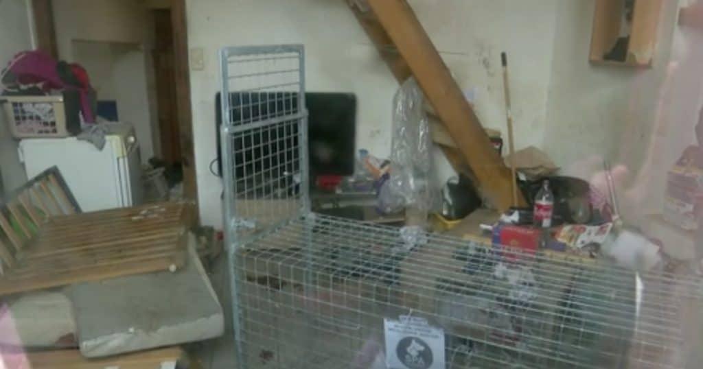 la maison où l'enfant a été retrouvé