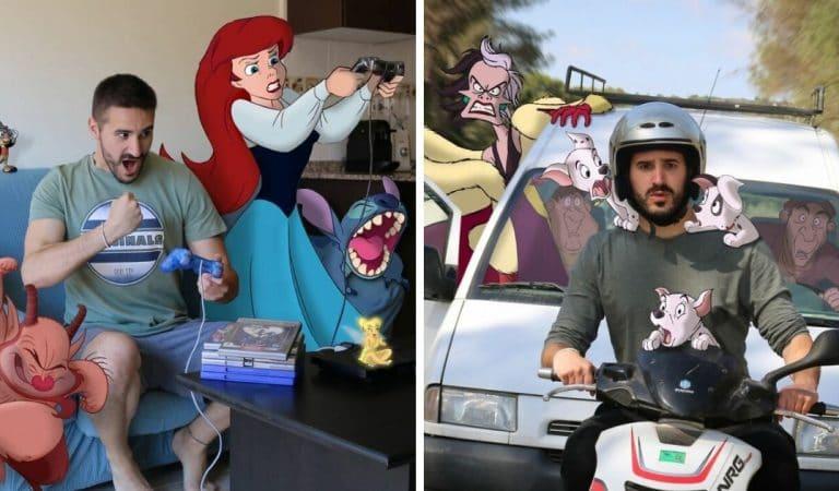 Il incruste des personnages Disney dans ses photos pour rendre sa vie plus fun ! (30 photos)