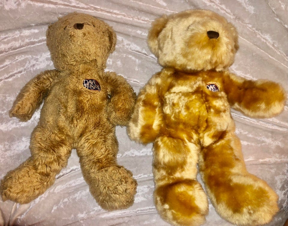 deux ours en peluche